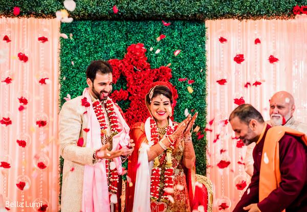 Dreamy indian wedding ceremony.