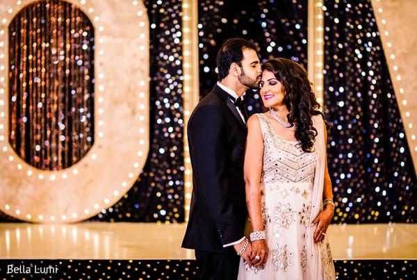 Elegant indian newlyweds photo session