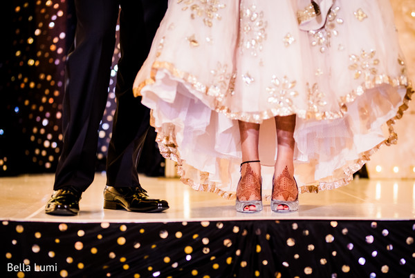 Fabulous indian bride and groom's shoes photography