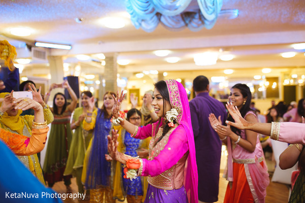 pre-wedding celebrations,indian bride,mehndi night,dj