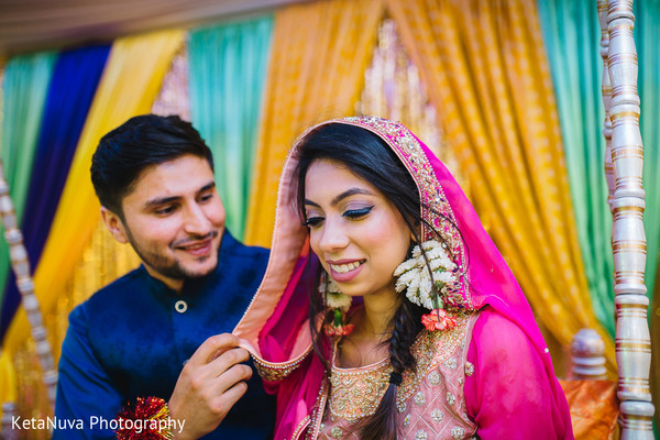 pre-wedding celebrations,indian bride and groom,mehndi night