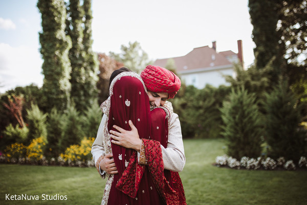 pakistani bride and groom,indian wedding photography,first look