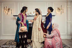pakistani bride,bridesmaids,getting ready