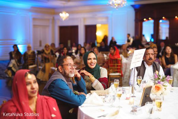 Pakistani wedding guests.