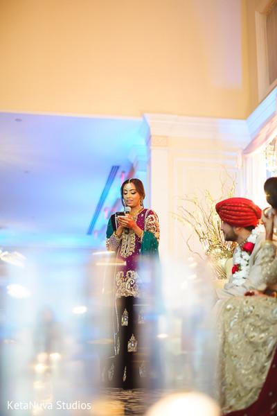 Pakistani wedding speech scene.