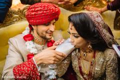 Traditional Pakistani wedding ceremony ritual.