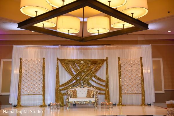 Ravishing Indian reception sweetheart stage.