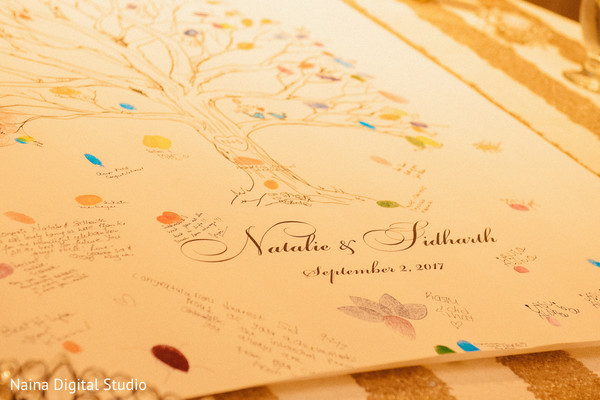 Charming Indian wedding guest book.