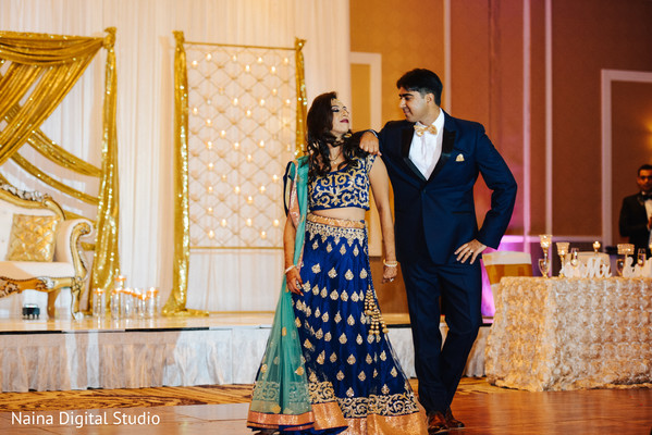 Indian bride and groom glamours style.