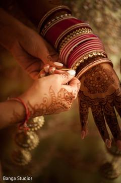 Indian bride's wedding bangles