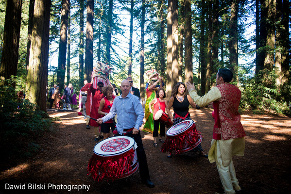 baraat,pre- wedding celebrations,live music performance,indian fusion wedding
