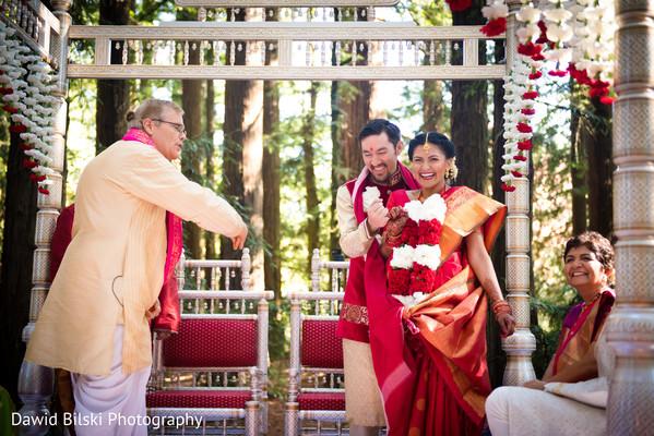 Traditional saptapadi ritual