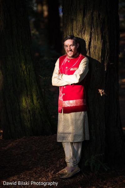 Elegant indian groom's wedding outfit