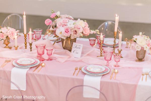 Fabulous indian wedding reception table set up