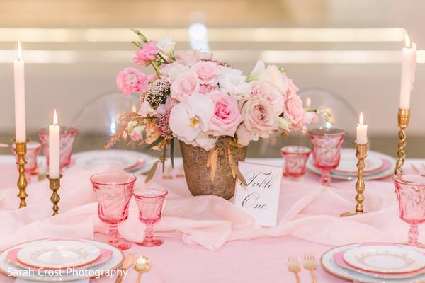 Elegant pink table set up