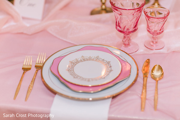 Marvelous pink themed wedding reception decor