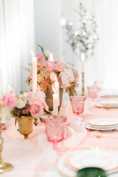 Perfect indian wedding reception set up