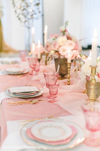 Wonderful pink themed table set up