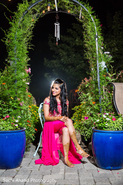 Indian bride posing for photo shoot
