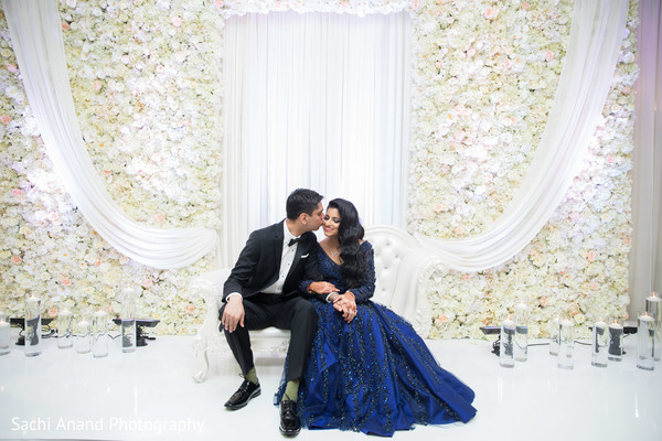 Delightful indian bride and groom photo session