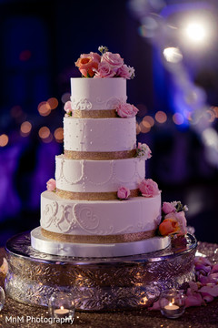 Indian Wedding Receptionfloral And Decorindian Cake