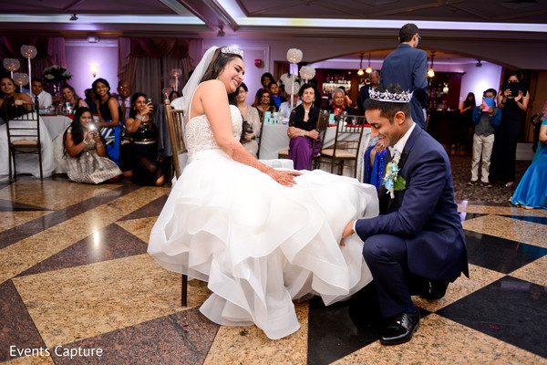Indian Wedding Garter Toss In Syosset NY By Events Capture