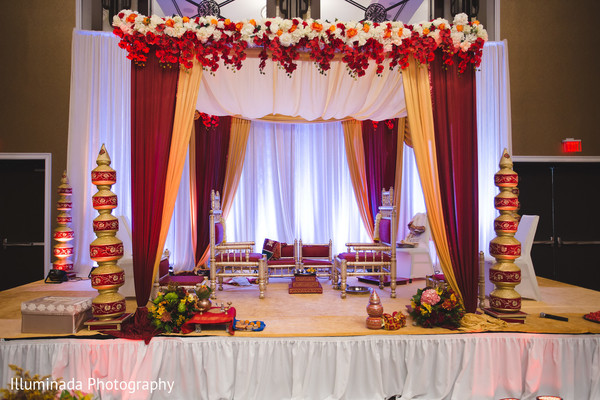 indian wedding ceremony,mandap,floral and decor