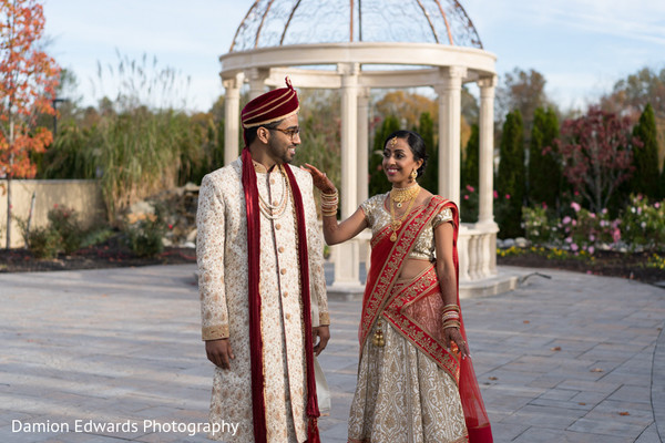 Splendid indian wedding first look shot