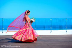 By the beach indian bride's photo session