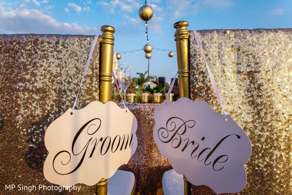 Indian bride and groom sign decor