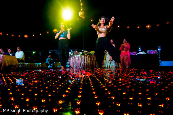Indian wedding reception dance performance