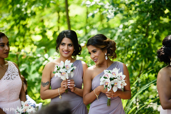Cute picture of Indian bridesmaids.