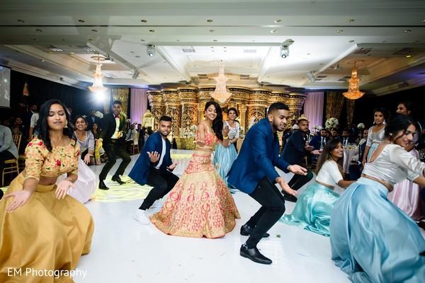 Fun Indian bride choreography.
