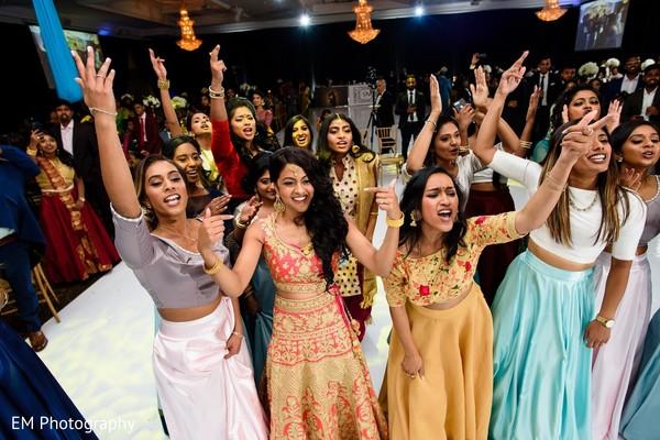 Vibrant Indian bride performance finale.