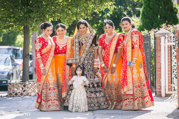 Impossible cute Indian bridesmaids photo.