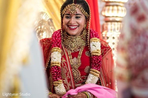 Ecstatic Indian bride look.