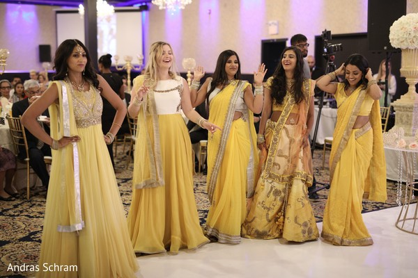 indian wedding reception,indian wedding reception photography,indian bridesmaids' fashion