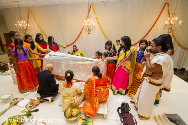 South Indian wedding solemn ceremony.
