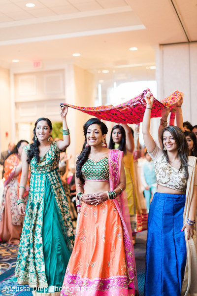 Indian bride's entrance photography