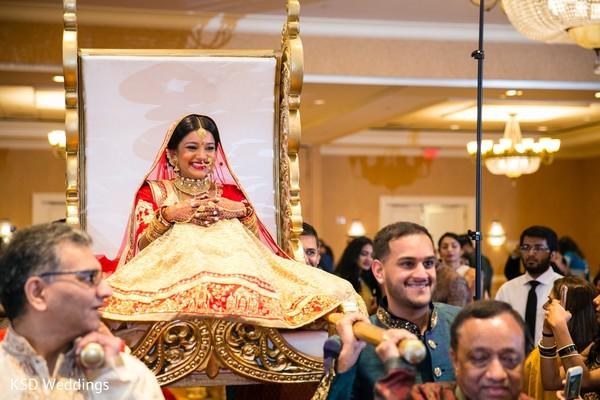 Amazing Indian bride wedding ceremony entry.