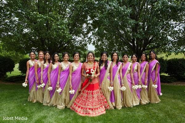 indian bridesmaids,indian bridal lengha