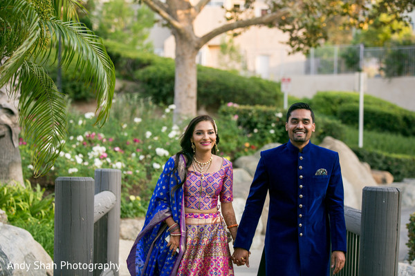 Indian bride and groom pre-wedding fashion.
