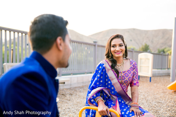 Fun Indian bride and groom to be photo shoot.