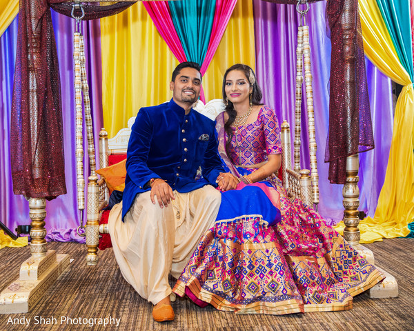sangeet,pre-wedding fashion,indian bride and groom