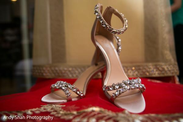 Indian bridal jeweled shoes.