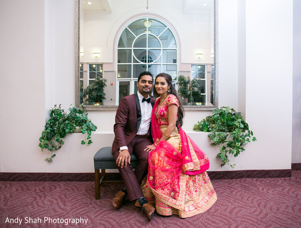 Gorgeous Indian newlyweds.