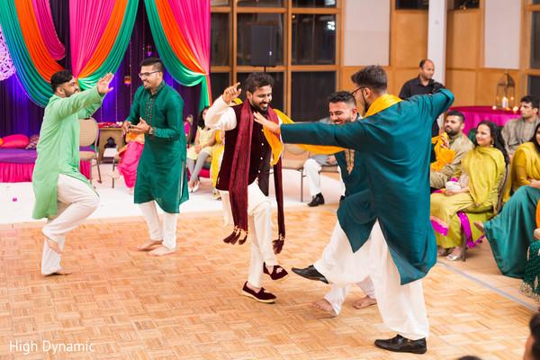 Indian groom's sangeet performance