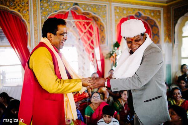 Joyful indian pre-wedding celebrations