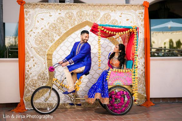 pre- wedding celebrations,garba,rickshaw,floral and decor