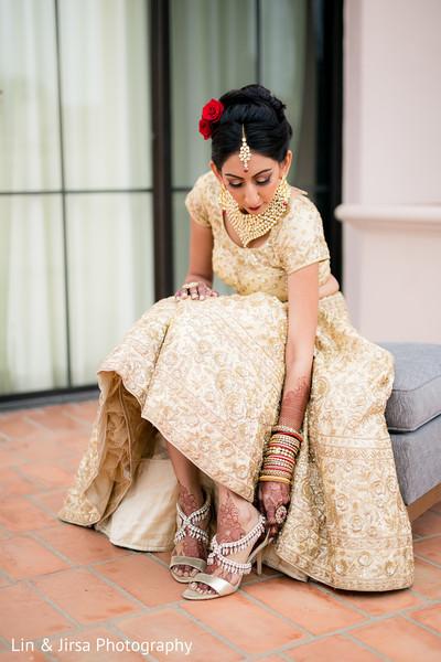 indian bride,indian bride fashion,ceremony fashion,lehenga,getting ready